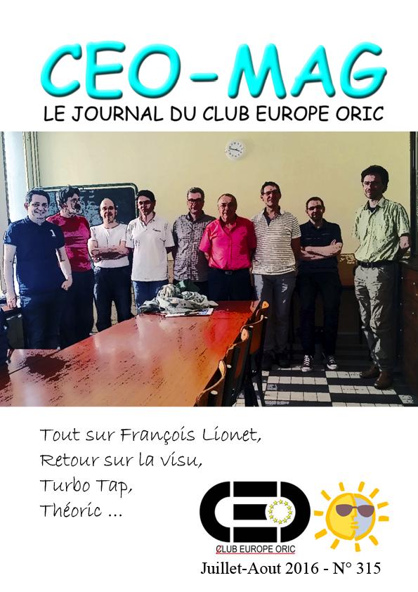 CEO-MAG 315-316 de Juillet-Aout 2016 Ceomag_couverture_383_315